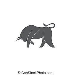 Bull icon on white background