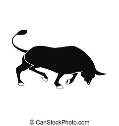 Bull icon, simple style