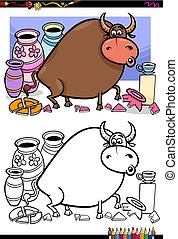 bull in a china shop coloring book