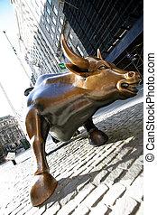 Bull in NY Wall Street