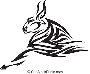 Black and white image bull in tribal style - vinyl-ready!