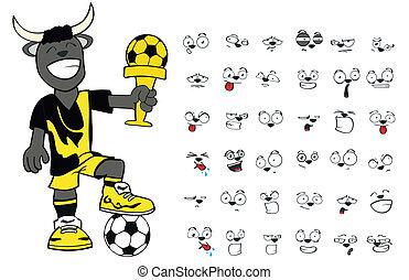 bull kid soccer cartoon set12