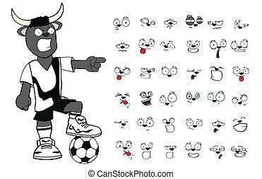 bull kid soccer cartoon set5