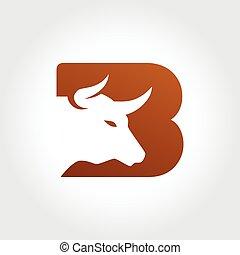Bull Letter B Symbol Design