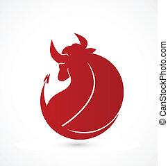 Bull identity card business vector icon