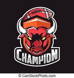 Bull logo for a sport team