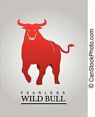 bull., logo., taureau