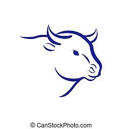 Bull logo. Vector.