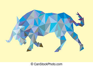 Bull low poly style