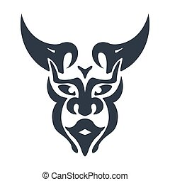 bull man head symbol vector
