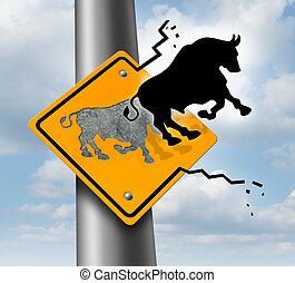 Bull Market Rise - Bull market rise business and finance...