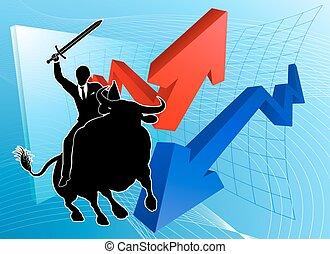 Bull Market Winner Concept