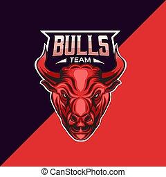 bull mascot logo template
