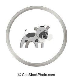 Bull monochrome icon. Illustration for web and mobile design.