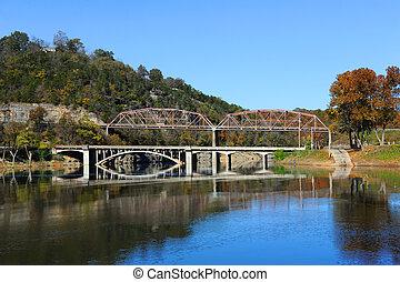 Bull Shoals Lake Reflects Bridges - River Run Park on ...