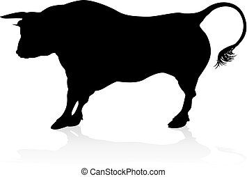 Bull Silhouette Graphic