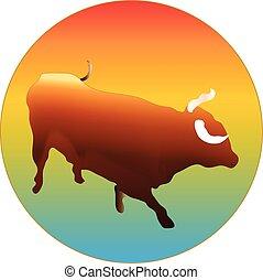 Bull silhouette logo