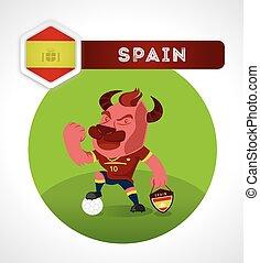 Bull soccer character