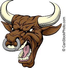 Bull sports mascot