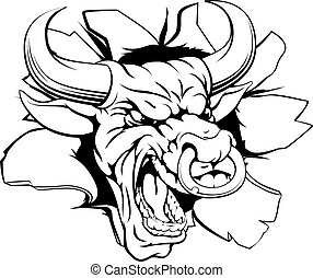 Bull sports mascot breaking out