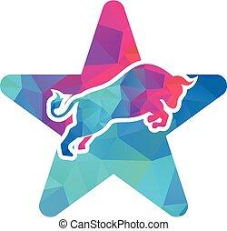 Bull star shape concept Logo
