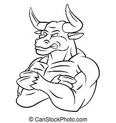 Bull Strong Mascot