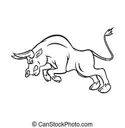 Bull Tattoo Vector Illustration