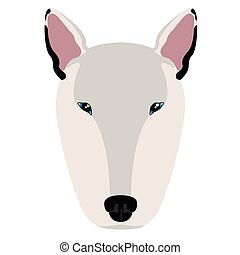 Bull terrier avatar - Isolated avatar of a bull terrier. Dog...