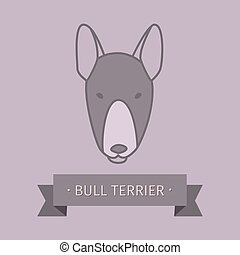 Bull terrier breed dog logo design - Bull terrier breed dog...