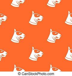 Bull terrier dog pattern seamless - Bull terrier dog pattern...