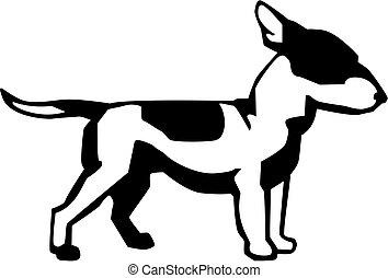 Bull Terrier - vector drawing of a bull terrier