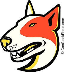 Bull-Terrier-HEAD-MASCOT - Mascot icon illustration of head...