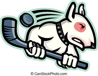bull-terrier-ice-hockey-side-MASCOT - Sports mascot icon...