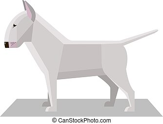 Bull Terrier in the minimalist style on a white background