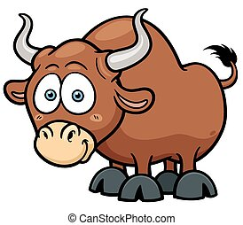 Bull - Vector illustration of cartoon Bull