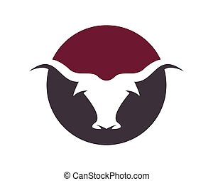 Bull vector icon illustration