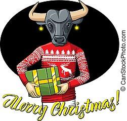 Bull vector illustration