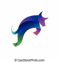 Bull vector logo, buffalo logo design