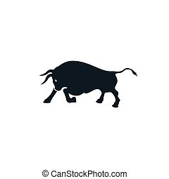 Bull vector logo design.