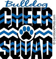 bulldog, aclamación, escuadra