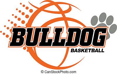bulldog, baloncesto, diseño