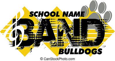 bulldog, banda, diseño