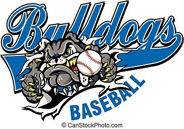 bulldog baseball - bulldogs baseball team design with mascot...