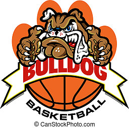 bulldog basketball banner design