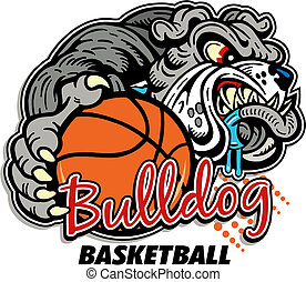 bulldog basketball design