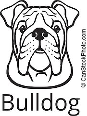Bulldog black vector icon logo
