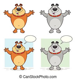 Bulldog Cartoon Character Collection - 1
