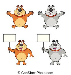 Bulldog Cartoon Character Collection - 5