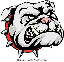 Bulldog Cartoon Mascot - A mean looking cartoon pet bulldog...