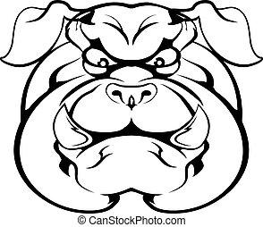 Bulldog character face